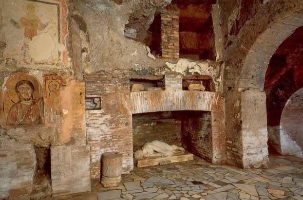 Roma sotterranea x bambini, visita guidata nei sotterranei di S Cecilia 26/10/13 h.16.00