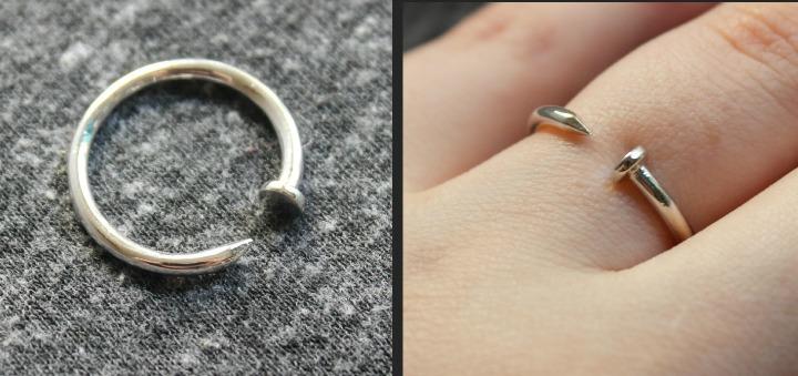 ShopLately Veritas Nailed It Nail Ring