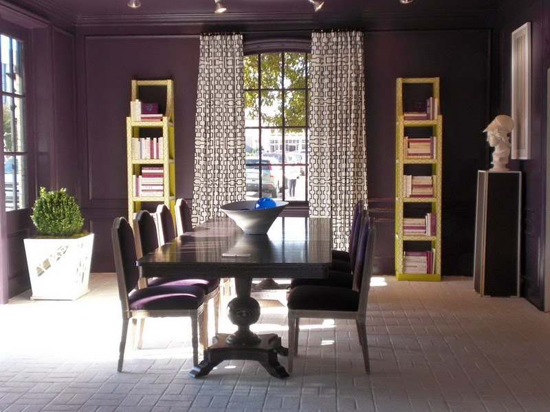 Eye for design decorating with aubergine eggplant - Most popular living room colors 2014 ...