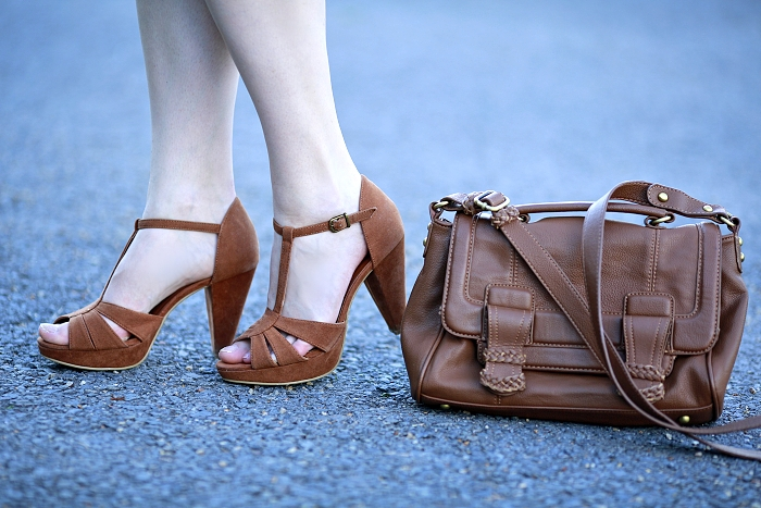 sude beige shoes, Pimkie shoes, brown Zara bag