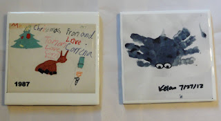 Printed tile with your child's artwork