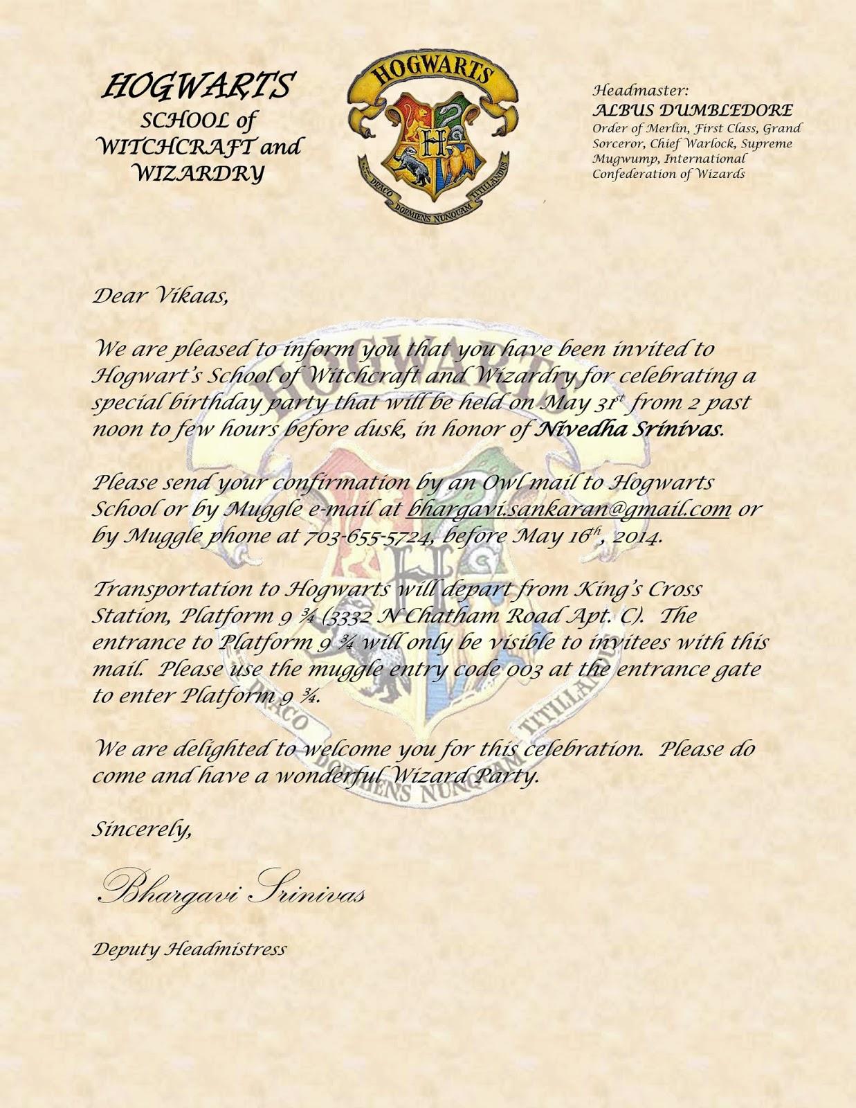 Free Printable Harry Potter Birthday Invitations - Free Printable ...