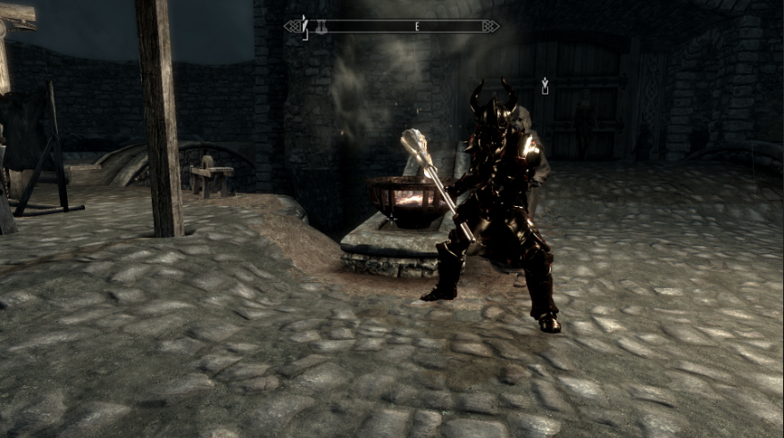 Elder Scrolls V Skyrim WEAPONS MOD PLAYABLE BROOM WEAPON 4