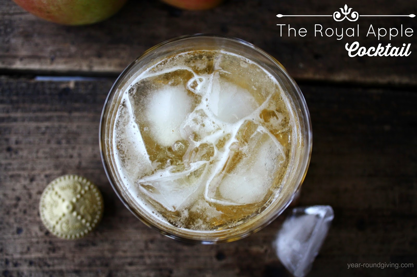 The Royal Apple Cocktail. This is a Friday after the kids have gone to bed drink.
