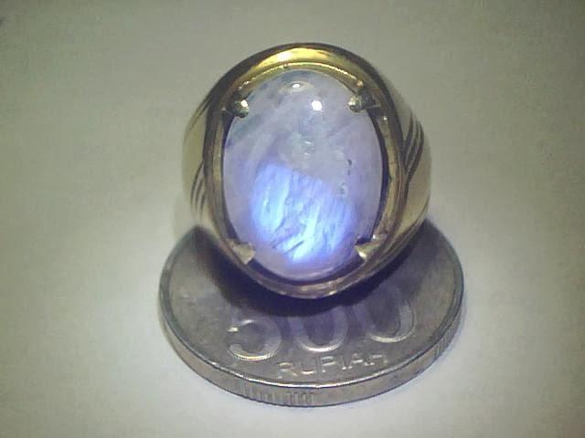 Batu Cincin Biduri Bulan Ring Kuningan
