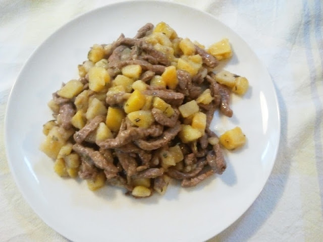 straccetti di patate e carne