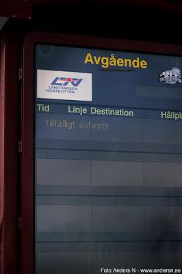 informationstavla järnvägsstation