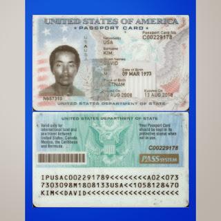 ... KIM UNITED STATES PASSPORT CARD: DAVID KIM UNITED STATES PASSPORT CARD