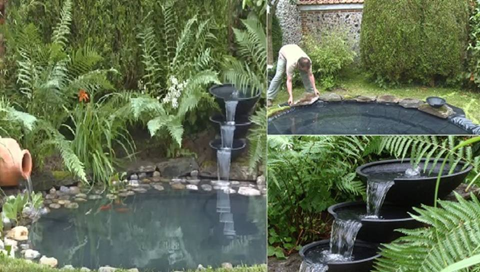 Home decor diy project how to build a wonderful pond for Diy patio pond