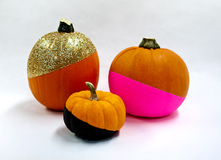 Ma Bicyclette: Make Your Own World   Pimp Your Halloween Pumpkin - Paint and glitter dipped pumpkins