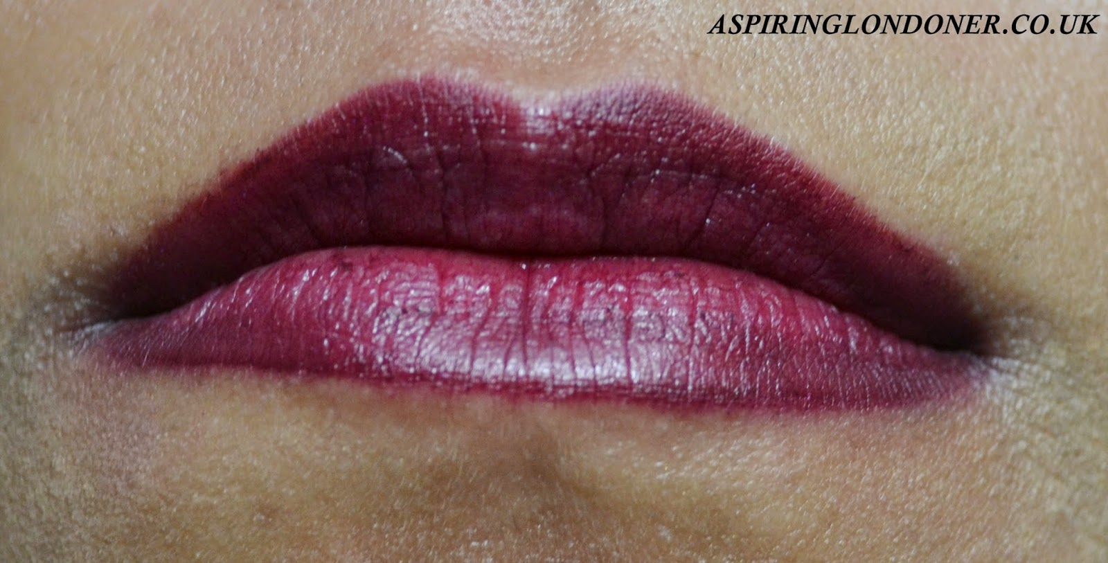 Kiko Smart Lip Pencin in 710 Rouge Noir & Clinique Chubby Stick in Voluptuous Violet Swatch - Aspiring Londoner