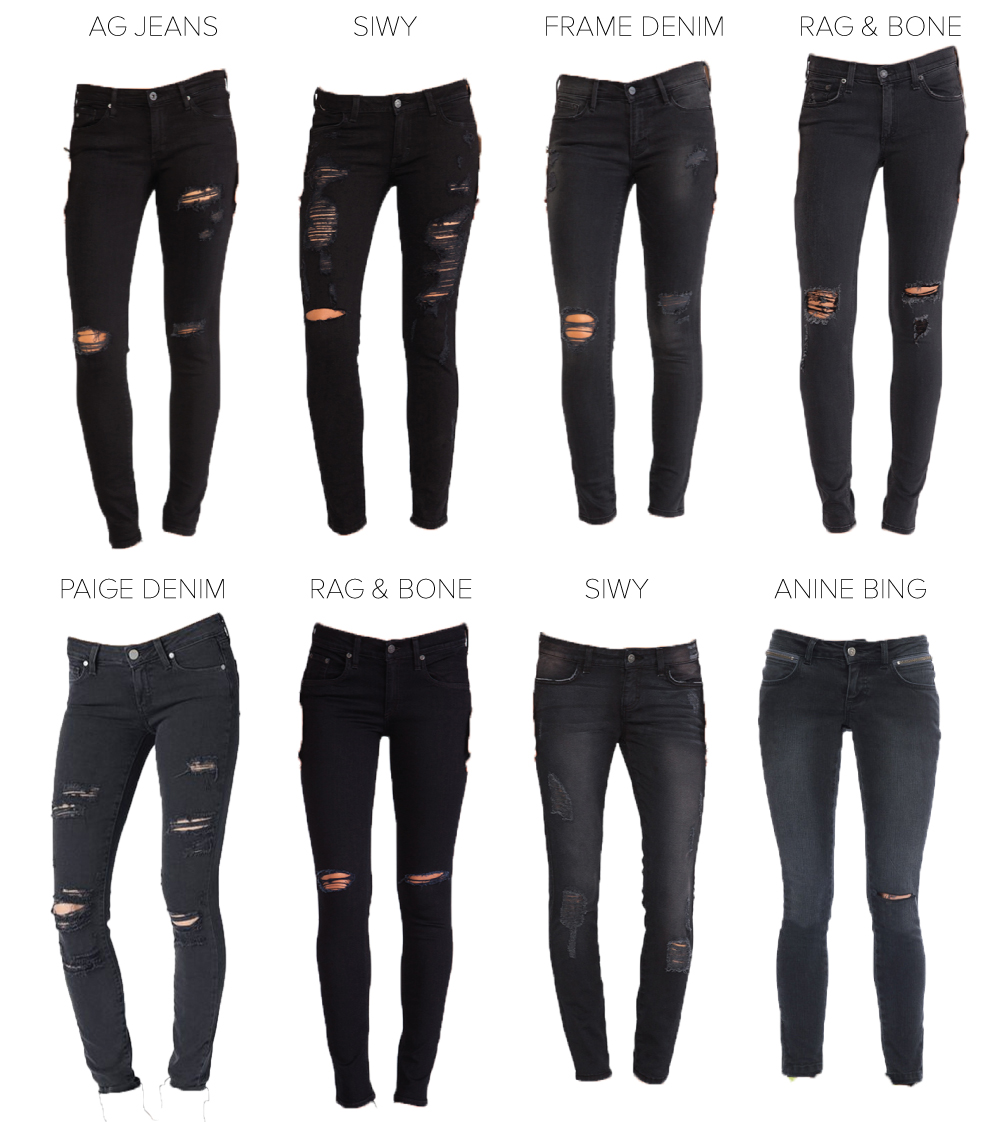 &chloe: my favorite black   distressed jeans for fall