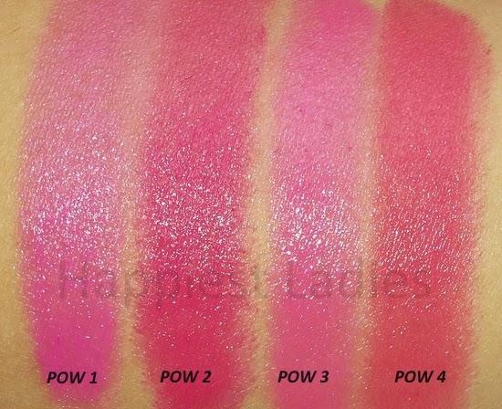 Maybelline Pink Alert Lipstick swatches
