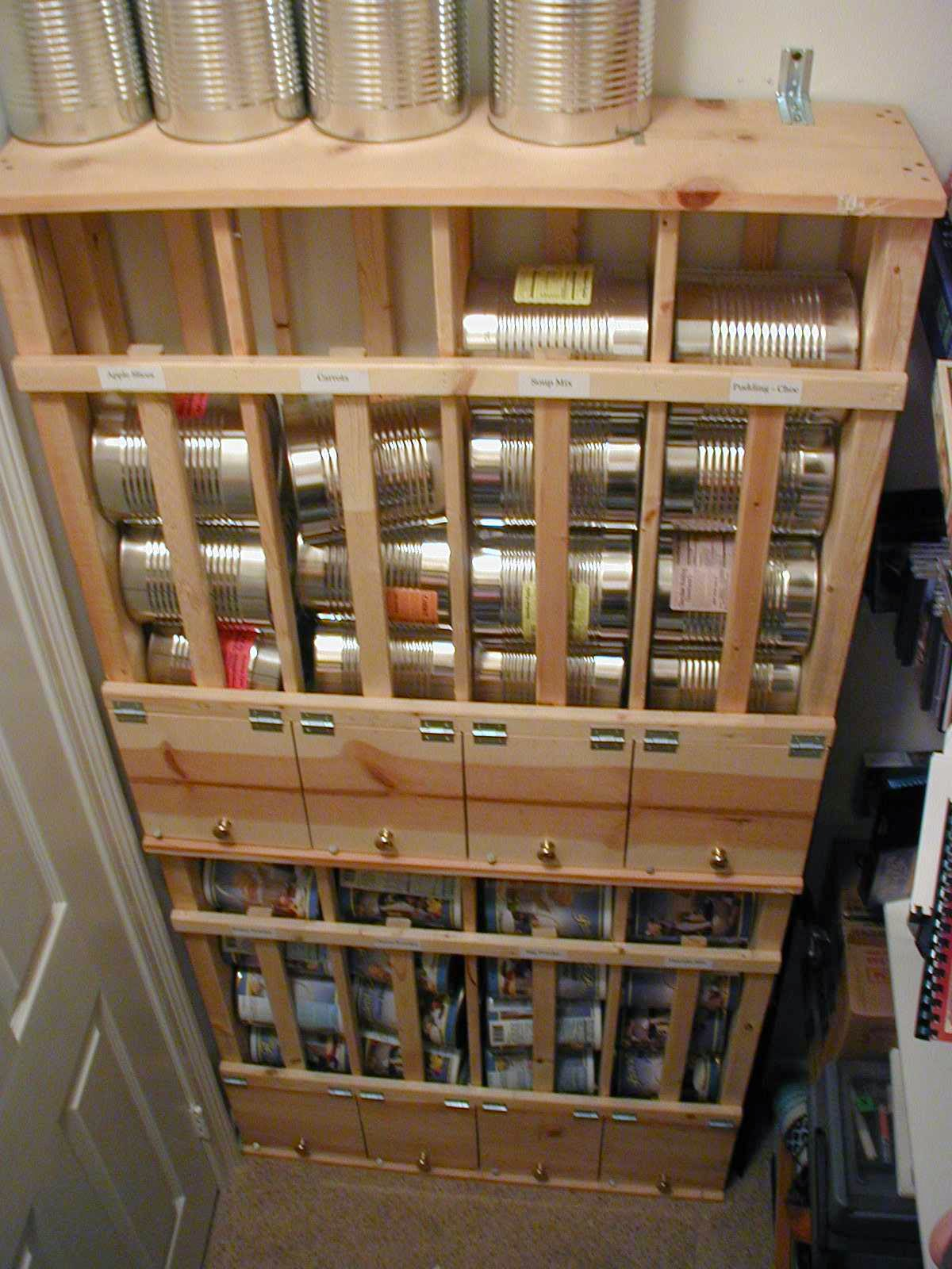 Some Pics Of Rotating Storage Units For Canned Foods.
