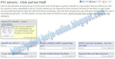 Bisnis Online Gratis Paid To Click Terpercaya, PTC terpercaya, PTC Scame, Daftar PTC Terpercaya.