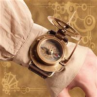 Steampunk Compass Present
