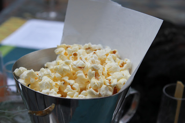 Truffled popcorn at Aragosta, Boston, Mass.