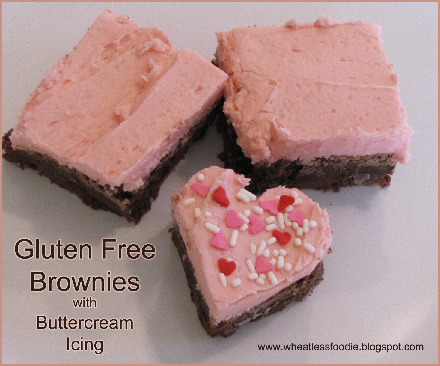 Wheatless Foodie: Gluten Free Brownies with Buttercream Icing