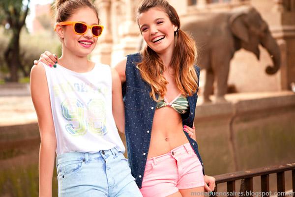 Looks casuales juveniles, la moda de la primavera verano 2015 de Te lo Juro. Shorts, remeras y camisas de moda.