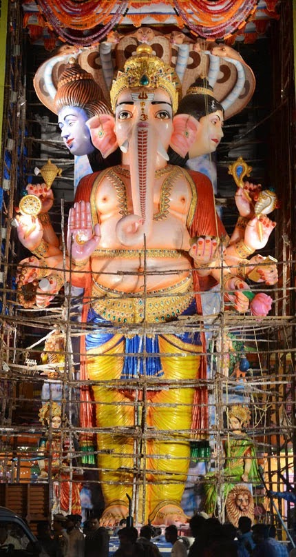 Khairtabad Ganesh Idol Photos 2014