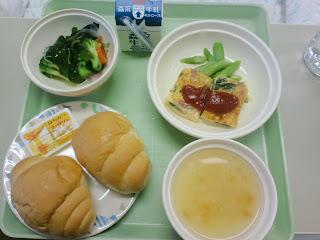 写真:パルス入院3クール4日目の朝食