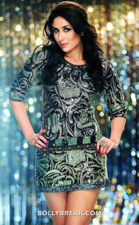 Kareena Hot Leg show Heroine movie in short dress - (2) - Kareena Kapoor Heroine Movie Silver Short Dress Hot Pics