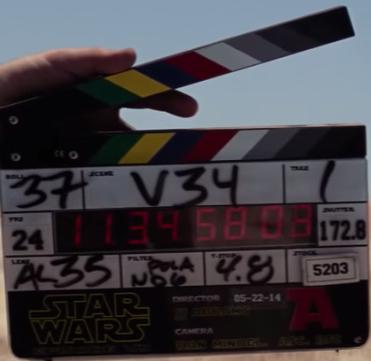 force awakens clapper board