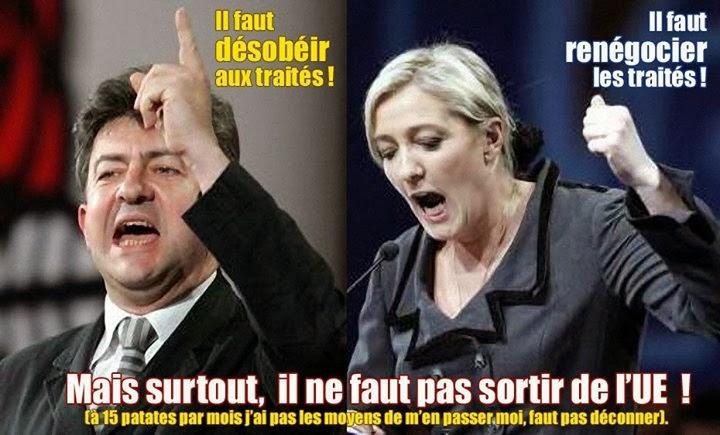 Le Pen et Mélenchon sur les traités européens