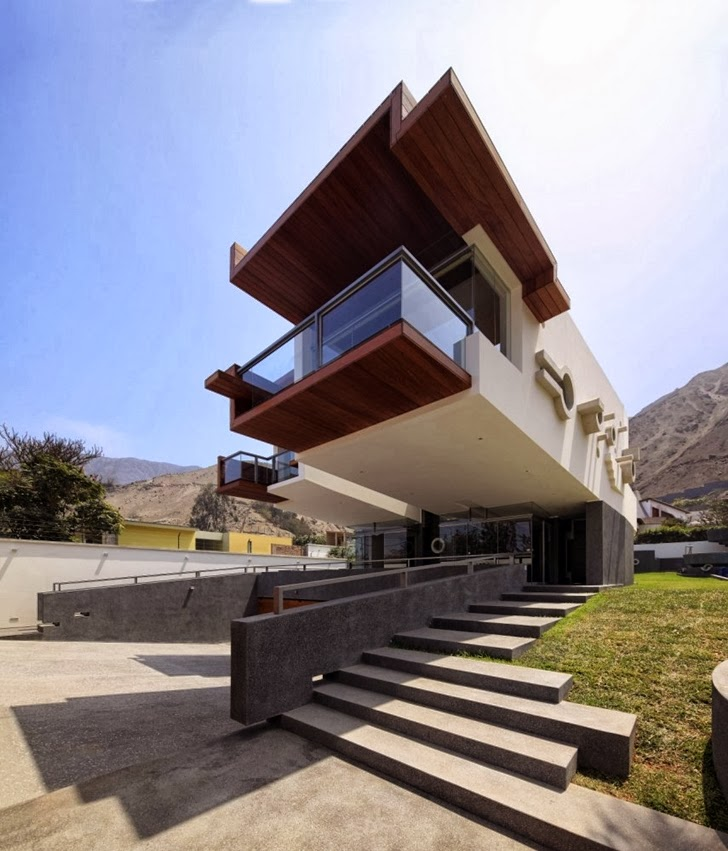 Of Architecture Unusual Extreme Modern House By Longhi Architects