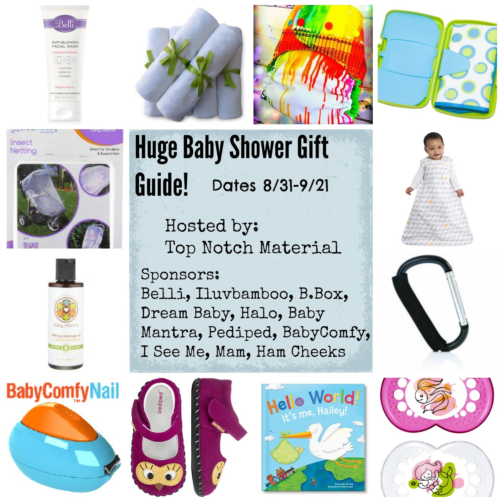 Top Notch Material: Baby Shower Gift Guide HUGE Prize Pack ...