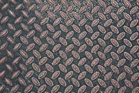 Patterned metal floor texture