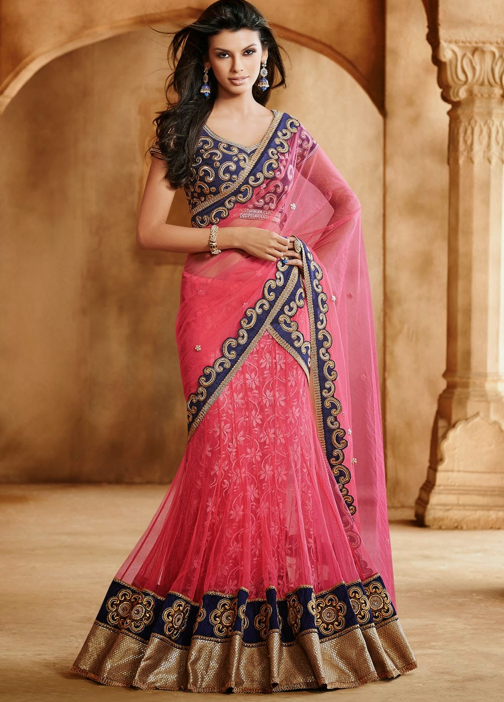 Outstanding Bridal Lehenga Choli and Lehenga Saree Designs ...