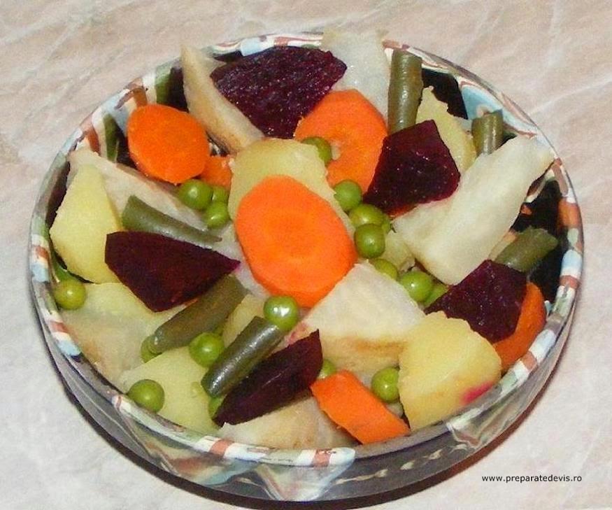 salate, garnituri, salata de legume fierte, salate de post, retete culinare, retete de mancare, retete vegetariene, retete de post, mancare de post, retete de slabit, cure si diete sanatoase, legume asortate natur,