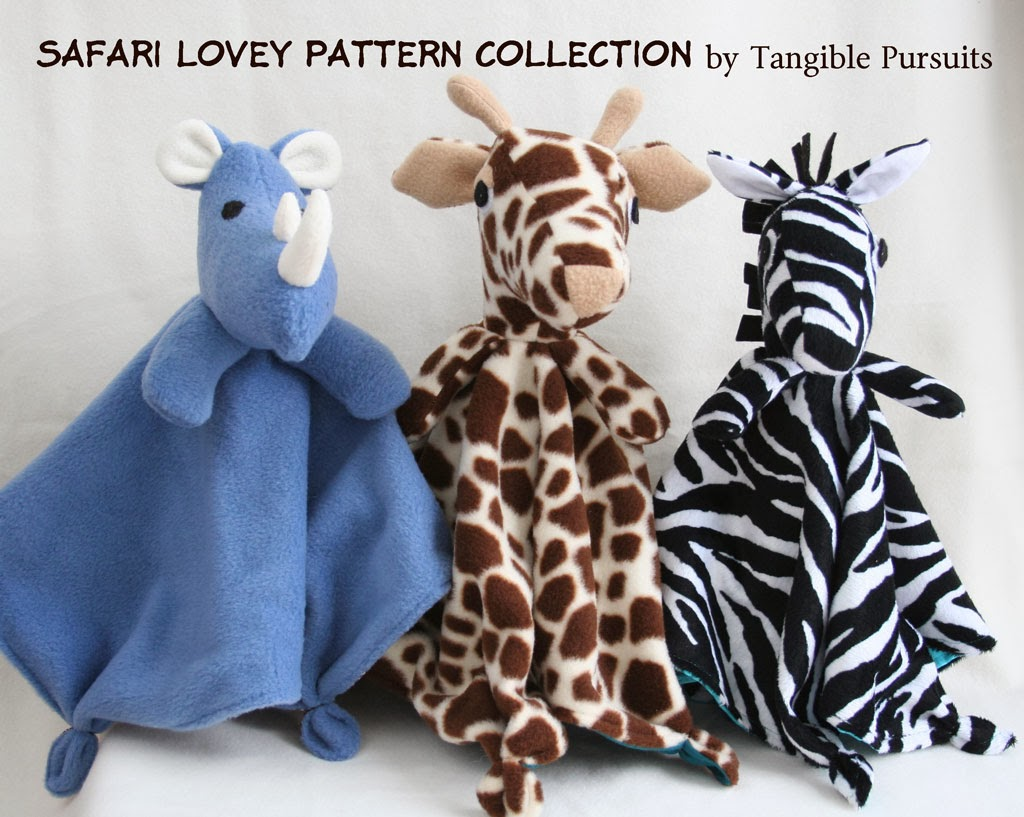 Tangible Pursuite: Safari Lovey Sewing Pattern Collection