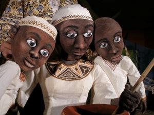"""Títeres de """"un cuento Africano"""""""