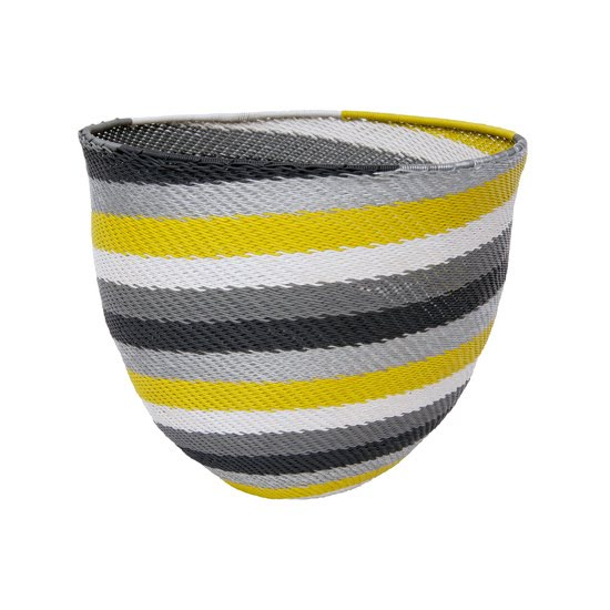 Safari Fusion blog | Woven & Stitched collection | Telephone Wire Stripe Bowl (citron) by Safari Fusion www.safarifusion.com.au