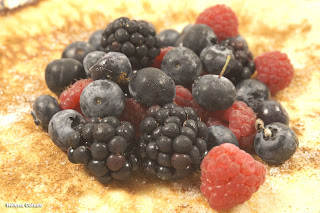 Fotografia de comida - Panqueca de frutos silvestres