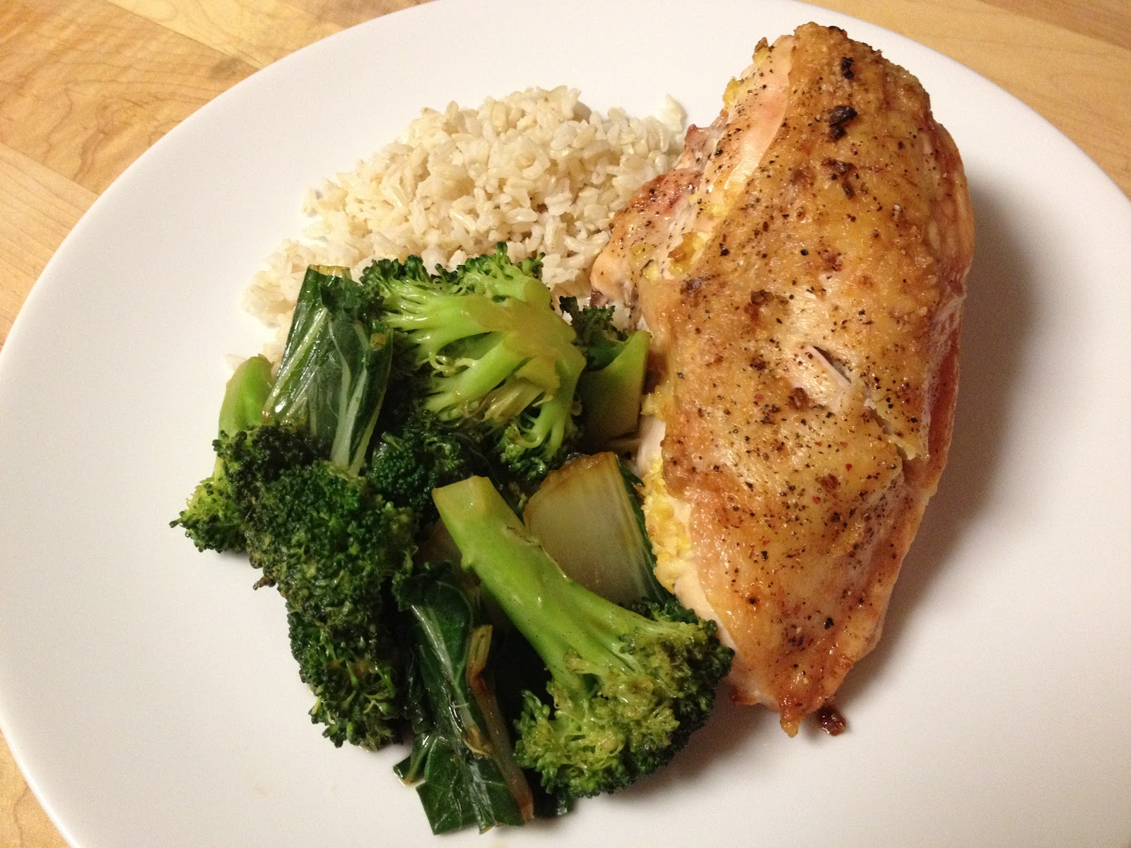 Small Talk: Ginger-Roasted Chicken with Bok Choy & Broccoli