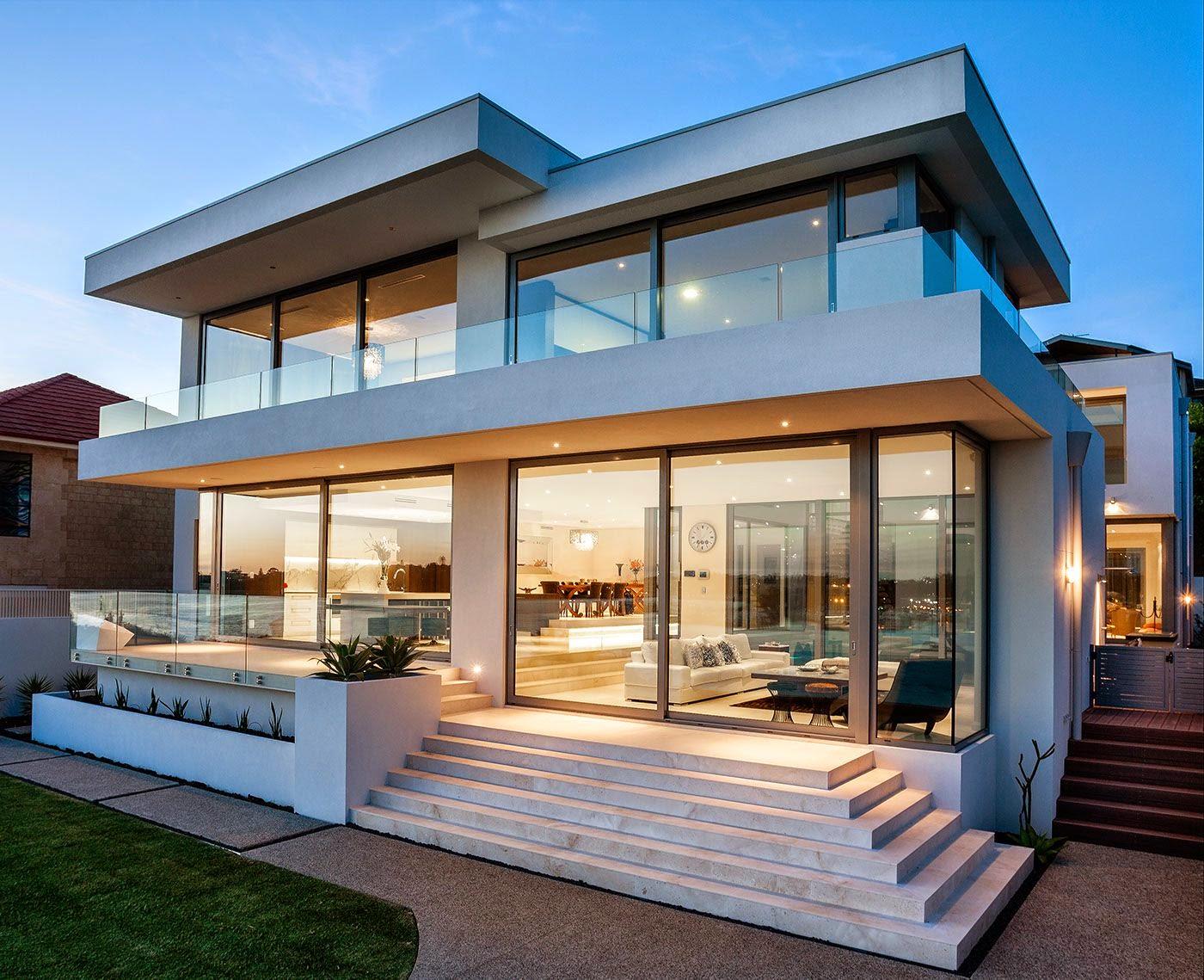 Hogares frescos relajada y acogedora moderna casa de la for Casa moderna 11