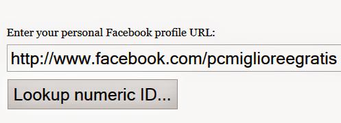 Ottenere l'ID di pagine e profili facebook