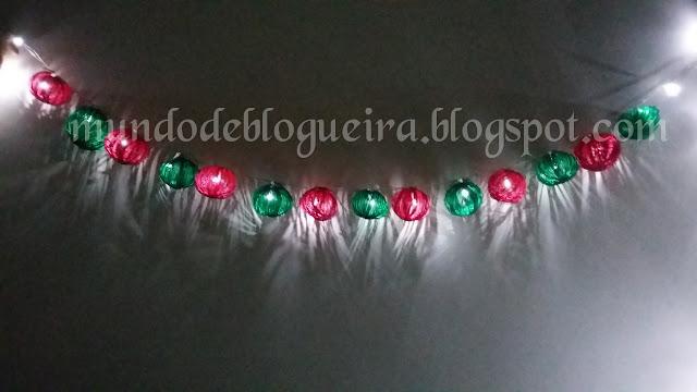 Como fazer pisca pisca de Natal com bolas de crochê