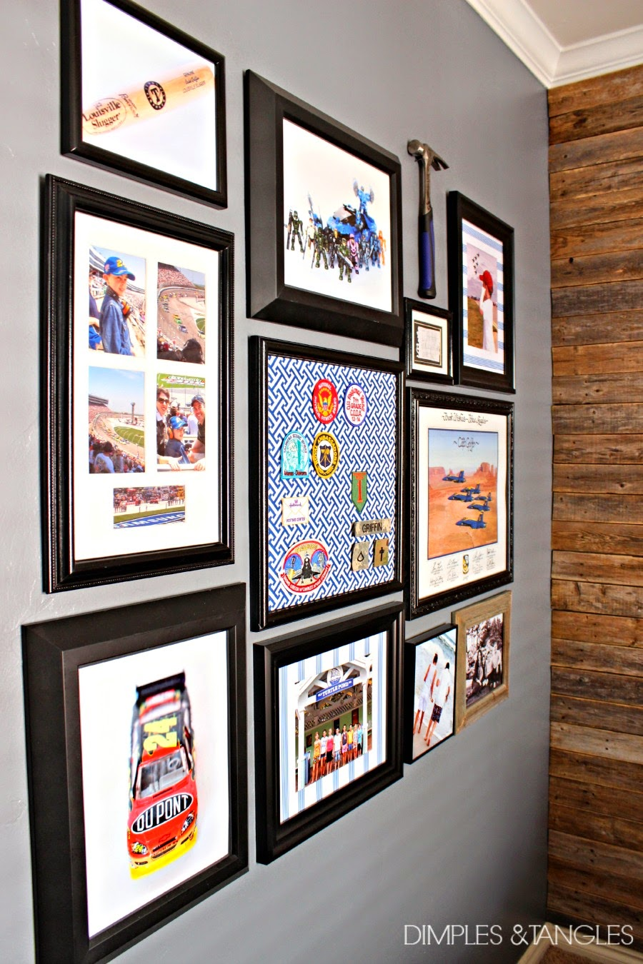 BOY\'S GALLERY WALL AND SOUVENIR PATCH ARTWORK - Dimples and Tangles