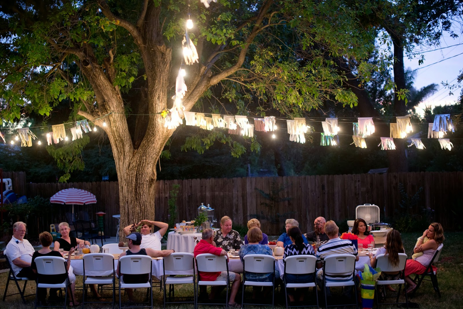 domestic fashionista fall backyard entertaining birthday party