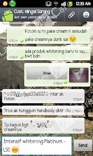 Testimonial Cream Whitening    Intensive Treatment Platinum