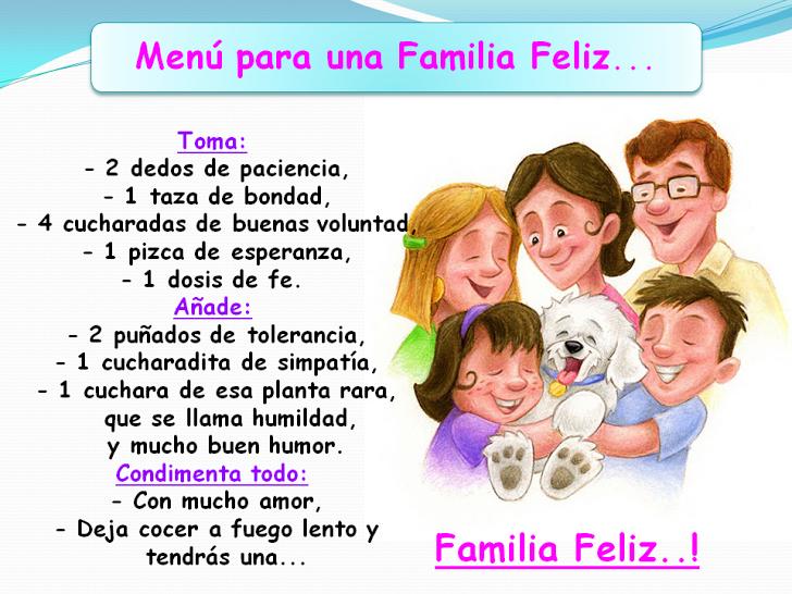 Frases Para Una Familia Feliz