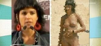 Teresa Rodríguez, desnuda en la playa