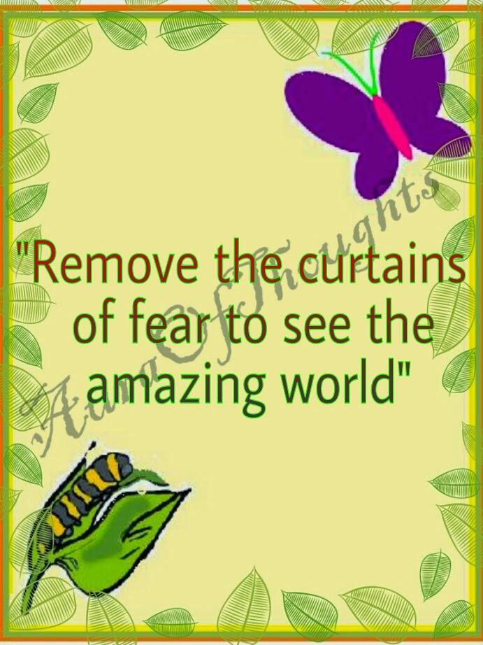 Aura of thoughts quote fear