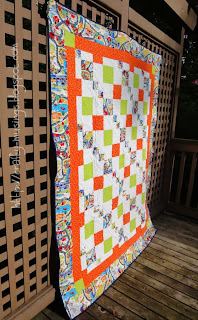Spring Mystery Quilt, side view
