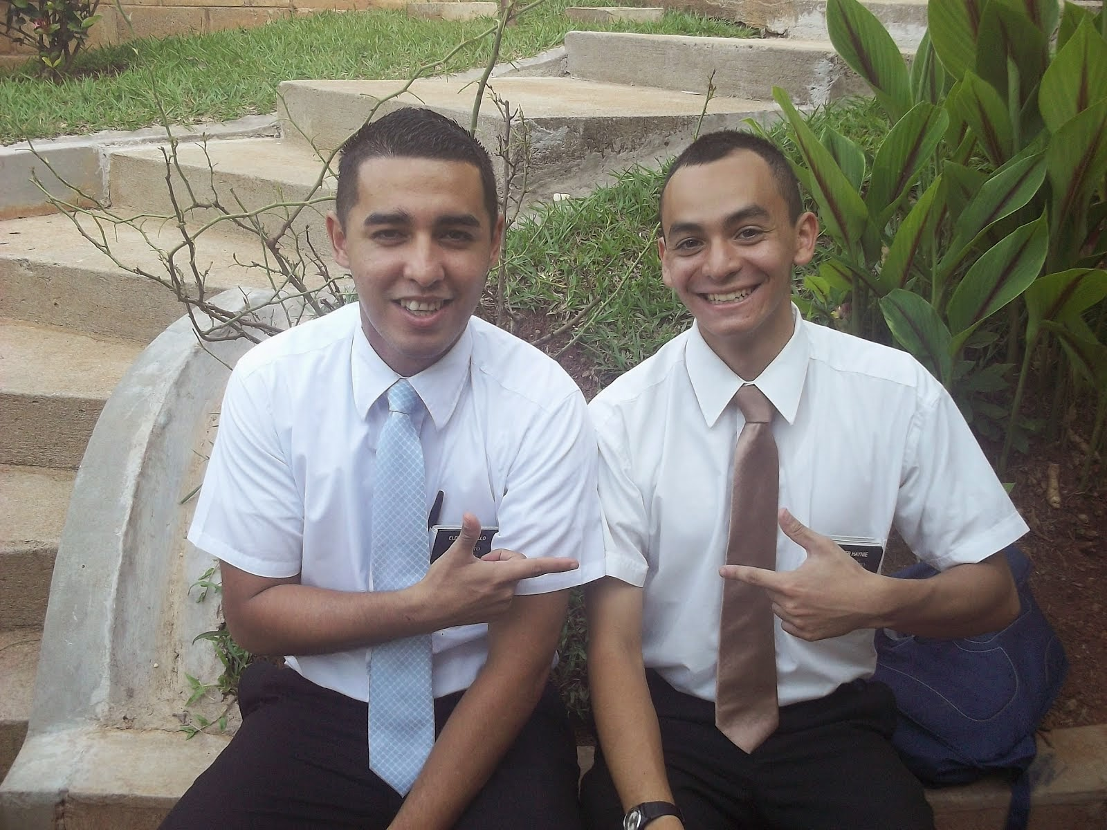 Elder Haynie and a New companion