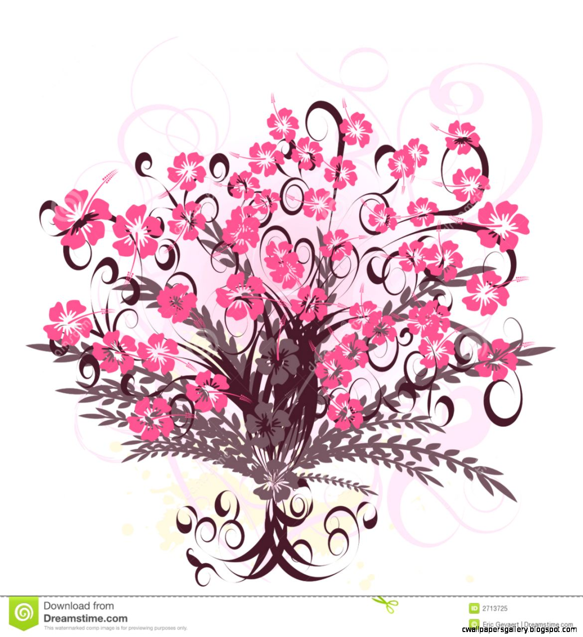 Beautiful Vector Flower Design Stock Photos   Image 2713753
